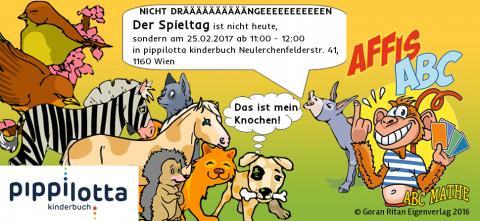 Der Spieltag am 25.02.2017 ab 11:00 - 12:00 in pippilotta kinderbuch Neulerchenfelderstr. 41,  1160 Wien